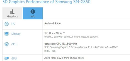 New Samsung SM-G850 Shows up on GFXBench