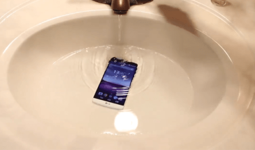 How is LG G3 acting to a Water Test?