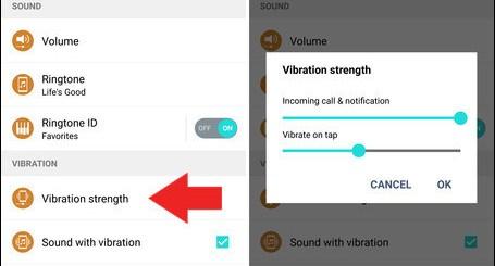 Increase vibration strength on LG G4
