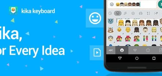 Kika Keyboard Becomes the 1st Keyboard with Native Support for WhatsApp's new Emojis (PRNewsFoto/Kika Tech Inc.)