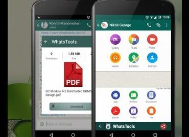 How to Send PDF, DOC, ZIP,APK Files on WhatsApp Using WhatsTool App-Android