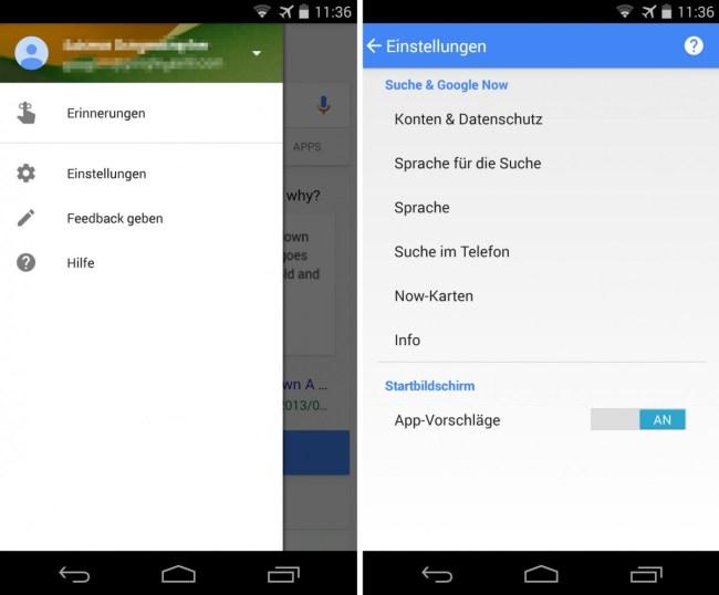 """Um in den Genuss der unterhaltsamen Fakten zu kommen, musst du in der """"Google Now""""-App die Sprache für die Suchanfragen von Deutsch auf Englisch umstellen."""