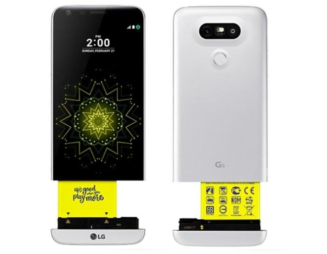 """In das """"LG G5 SE"""" ebenso wie in das """"LG G5"""" lassen sich mittels einer Schublade Erweiterungsmodule einsetzen, die den Umgang mit der Kamera erleichtern oder aber die Tonausgabe verbessern. (Foto: LG Electronic)"""