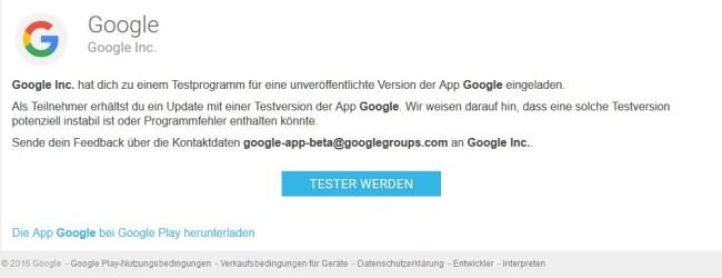 Google Betatest