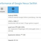 Google Nexus Sailfish: Specs in GFXBench geleakt