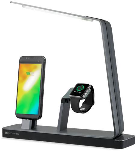 Dank einer Leistung von maximal 29 Watt werden die Akkus von iPhones und Apple Watches rasch geladen. Aufgrund der Tatsache, dass die Bildschirme der Geräte während des Ladevorganges zu Ihnen gerichtet sind, haben Sie Nachrichten und Anrufe immer im Blick.