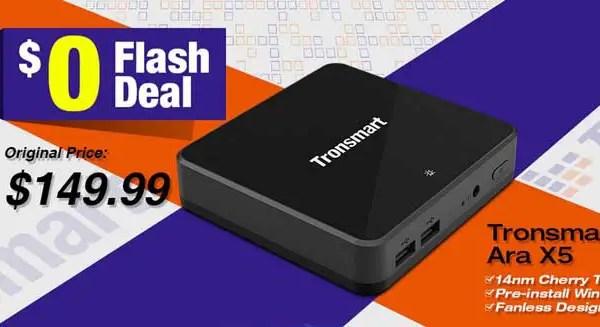 Tronsmart Ara X5 flash sale at Geekbuying