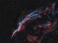 NGC 6960, Ha-12x600s bin1, OIII-12x1200s bin1