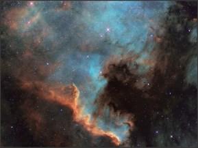 NGC7000. Ha-15x600s bin1, OIII-6x600s bin2, SII-6x600s bin2