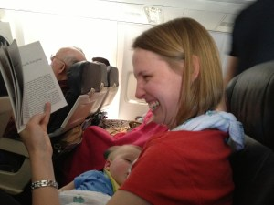 Good lord, woman! Don't wake that baby up!