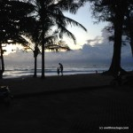 Sunset on Surin Beach Phuket and my two favorite people.