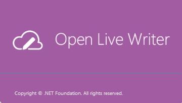 Open Live Writer splashscreen-full