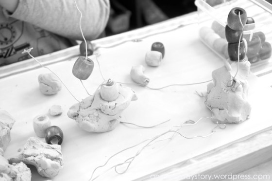 reggio clay bead sculptures Reggio: Using Clay   Wire and Bead Sculptures