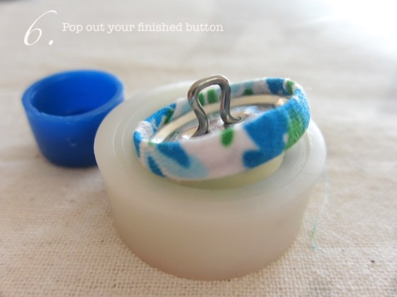 covered buttons step by step tutorial step 6 Sweet Covered Button Hair Ties