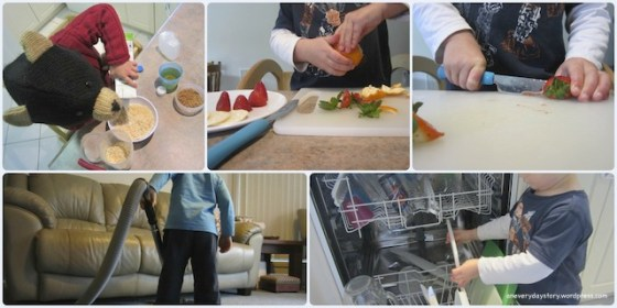 montessori practical life for children preparing meals and helping to clean This week… 1/52