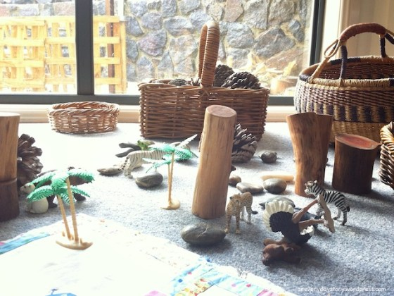 reggio emilia a varitey of natural materials for play an everyday story Its Not Just a Stick: A Simple Nature Table