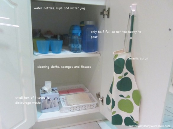montessori practical life kitchen set up drinking and cleaning area an everyday story Making Space for Two in the Kitchen