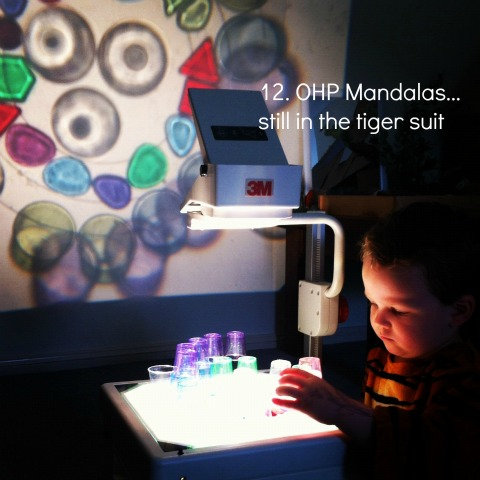 reggio activities using ohp light mandalas an everyday story This Week7/52