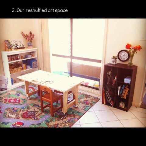 reggio art area for preschoolers an everyday story This Week…7/52