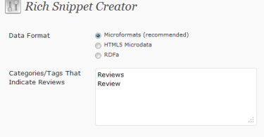Rich snippet tool in SEO Ultimate