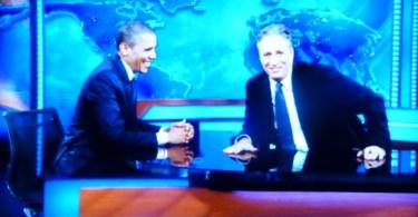 President Obama and John Stewart