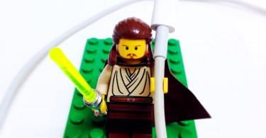 LEGO minifig with Apple lightning cable