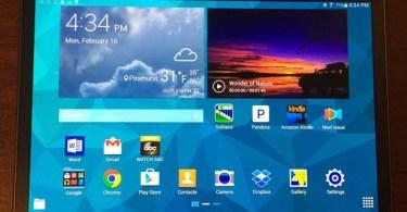 Galaxy Tab S front