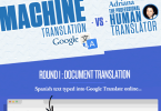 Google Translate vs Human Translators infographic