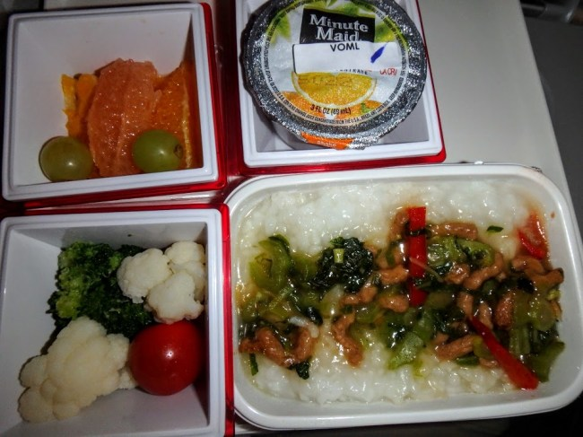 airplane food comparison what to order when you're flying JAL veggie meal