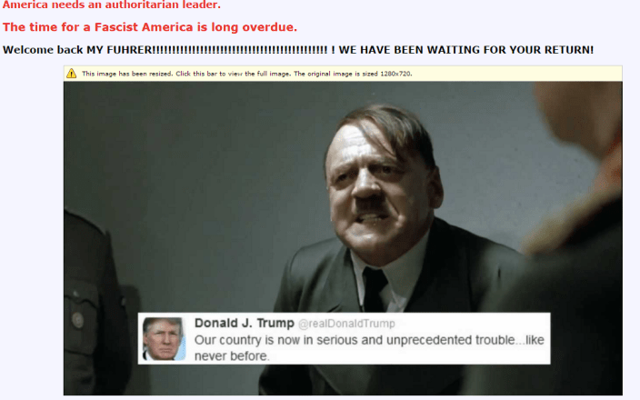 hate groups Donald Trump white supremacist