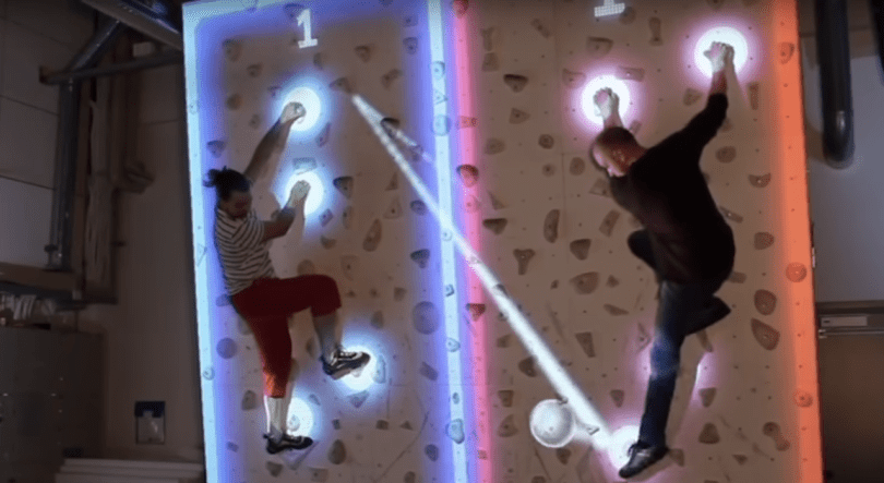 augmented reality climbing wall AR climbing wall video research finland