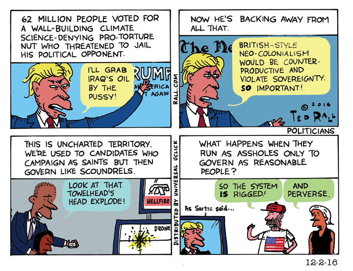 Ted Rall: The Greatest Donald Trump Puzzler Yet [cartoon]
