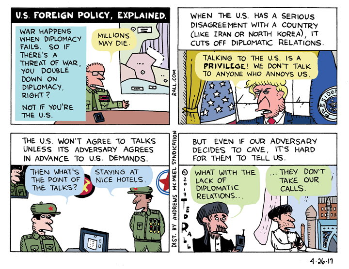 Ted Rall: U.S. Foreign Policy — Explained [cartoon]