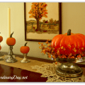 AnExtraordinaryDay.net {Day 16} 31 Extraordinary Days | Pumpkinscaping the Sideboard | Silver & Orange