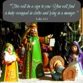 Nativity figurines | Scripture Photo | Joy at Christmas | Luke 2:12