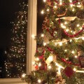 AnExtraordinaryDay.net - inspiring Christmas tree decorating ideas - Lighted Old-Fashioned Christmas Tree with Cranberry Garland