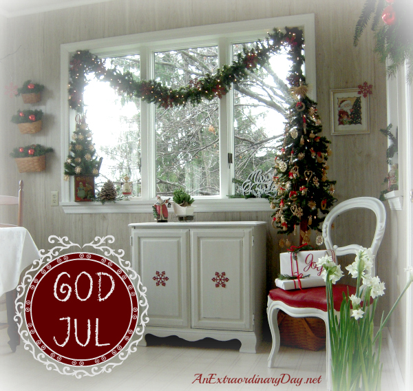Christmas Room - GOD JUL - Merry Christmas in Swedish | AnExtraordinaryDay.net