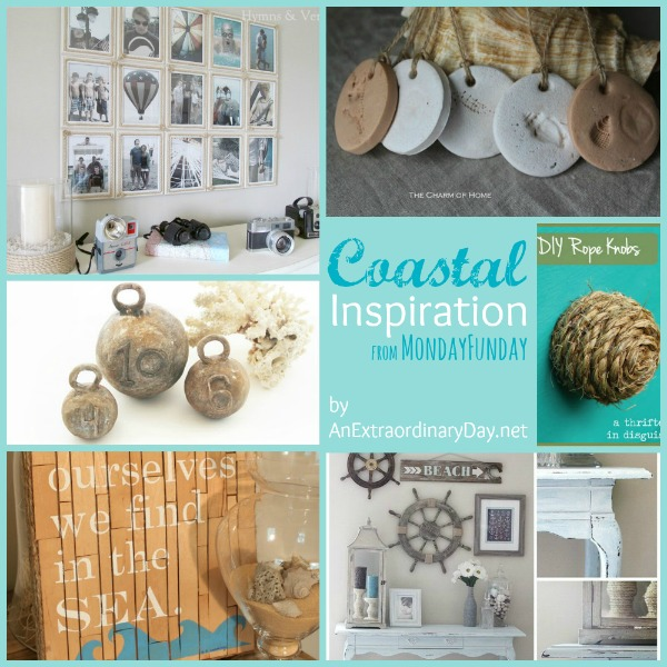 Coastal Inspiration ::  Monday Funday Link Party Features :: AnExtraordinaryDay