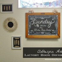 Laundry Room Decor :: Clothespin Art for the Makeover