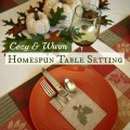 Day 10 :: Be Creative ~ Cozy and Warm Homespun Table Setting :: AnExtraordinaryDay.net