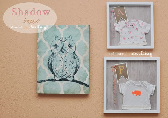Kids' Room Shadow Boxes Tutorial by Delineate Your Dwelling featured on Project Inspire{d} at AnExtraordinaryDay.net