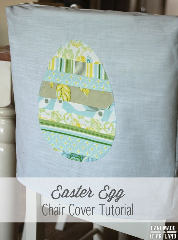 Easter Egg Chair Back Cover by Homemade in the Heartland - a Project Inspired Feature at AnExtraordinaryDay.net