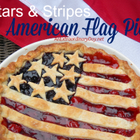 Easy to Make Stars and Stripes American Flag Pie