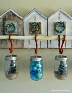 Make it a Coastal Christmas with Hanging Mason Jars