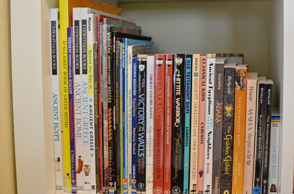 homeschool bookshelf