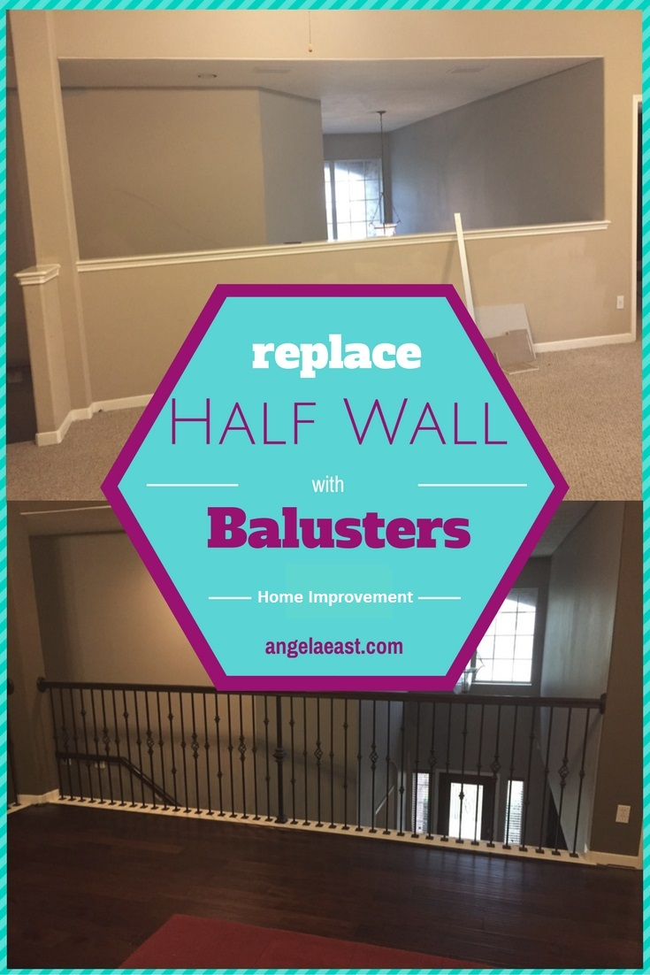 Replacing Half Wall with Wrought Iron Balusters | Home Improvement | Home Decor | Home Renovation | Home DIY