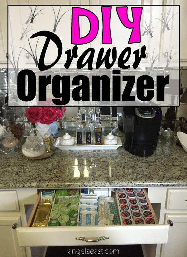 coffee bar drawer organization on angelaeast.com #homedecor #coffeebar #coffeestation