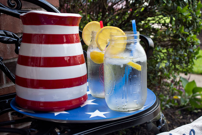 DIY Fourth of July Decorations Stars & Stripes Chargers | DIY Home Decor | Outdoor Living | Entertaining | Party Decor| Tablescape | Table Setting | 4th of July | Dollar Tree DIY