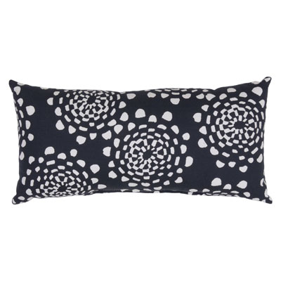 Lumbar Pillow – Roto Floral Black – Threshold