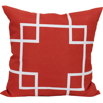 Mainstays Latice Coral Outdoor Toss Pillow